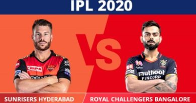 IPL 2020 Match in Dubai Bangalore beat Hyderabad by 10 runs