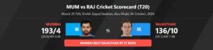 IPL 2020, MI vs RR