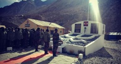 ndian Army builds memorial near Daulat Beg Oldi for our 20 martyrs of Galwan Valley clash